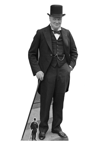 Winston Churchill Lifesize Cardboard Cutout