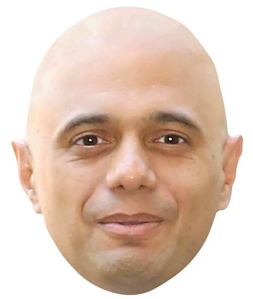 Sajid Javid Single 2D Card Party Face Mask