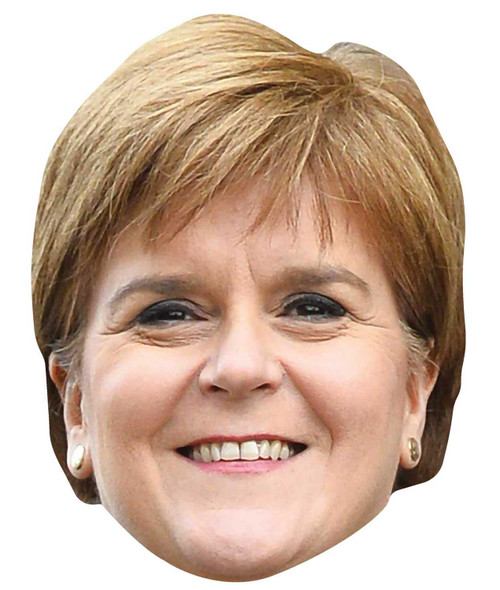 Nicola Sturgeon Scottish Politician Single 2D Card Party Face Mask
