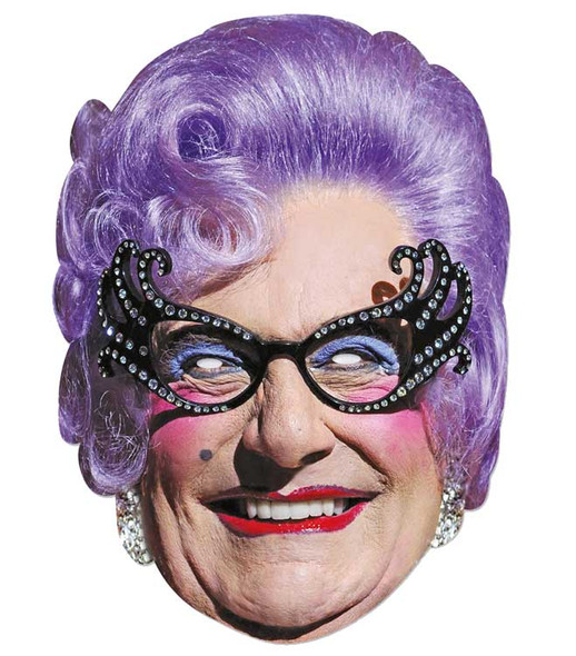 Dame Edna Everage Celebrity 2D Single Card Party Face Mas
