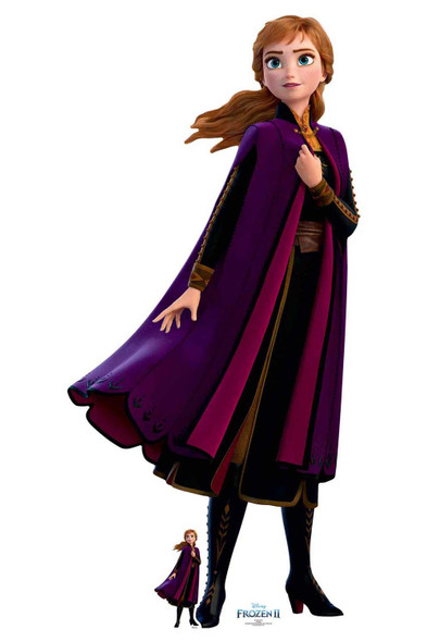 Anna Purple Coat from Frozen 2 Official Disney Cardboard Cutout