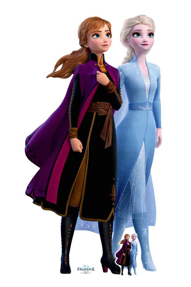 Anna and Elsa Together from Frozen 2 Official Disney Cardboard Cutout