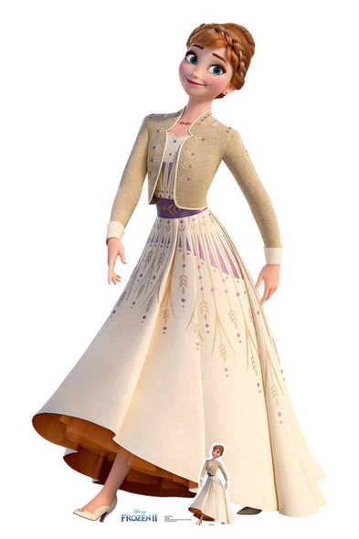 Anna Cream Dress from Frozen 2 Official Disney Cardboard Cutout