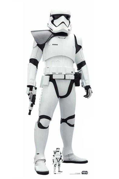 First Order Stormtrooper Black Pauldron Lifesize Cardboard Cutout Star Wars: The Rise of Skywalker
