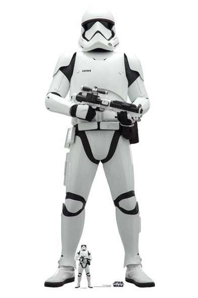 First Order Stormtrooper Cardboard Cutout from Star Wars: The Rise of Skywalker