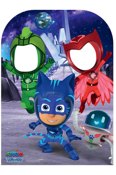 PJ Masks Super Moon Official Child Size Cardboard Cutout Stand in