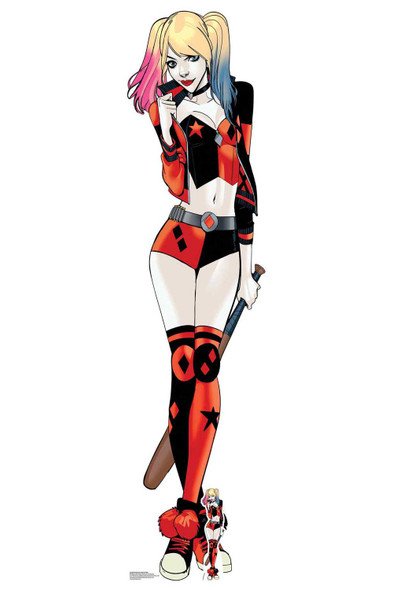 Harley Quinn Baseball Bat Official DC Comics Lifesize Cardboard Cutout