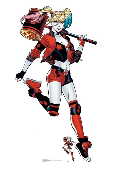 Harley Quinn with Mallet Official DC Comics Lifesize Cardboard Cutout
