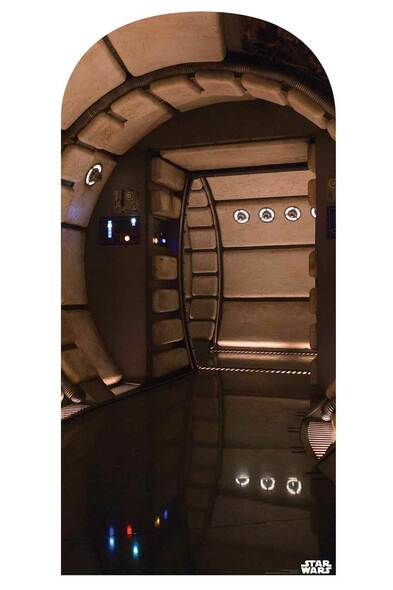 Star Wars Millennium Falcon Corridor Official Cardboard Cutout Backdrop