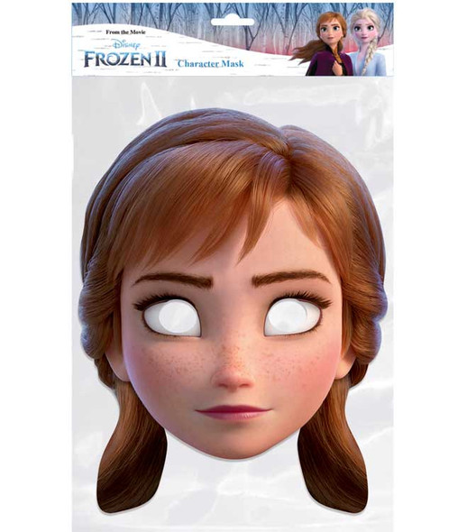 Anna from Frozen 2 Official Disney Single 2D Card Party Face Mask