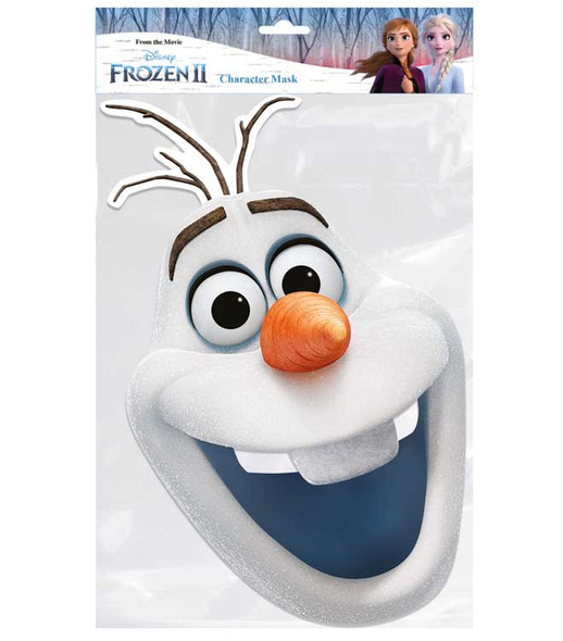 Olaf from Frozen 2 Official Disney Single 2D Card Party Face Mask
