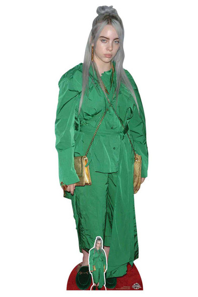 Billie Eilish Green Suit Lifesize Cardboard Cutout / Standee / Standup
