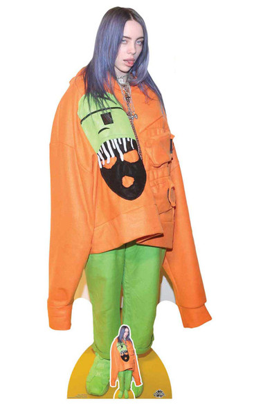 Billie Eilish Orange Outfit Lifesize Cardboard Cutout / Standee / Standup