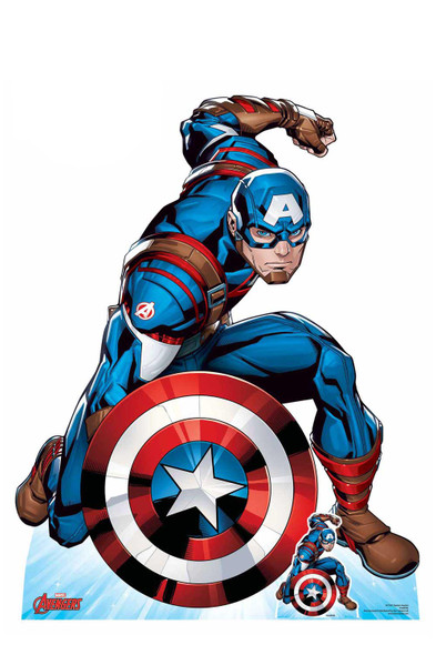 Captain America First Avenger Official Marvel Cardboard Cutout