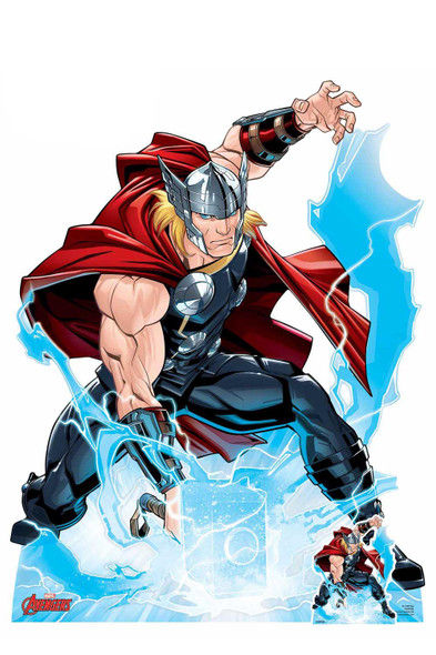 Thor Call the Storm Hammer Smash Official Marvel Cardboard Cutout