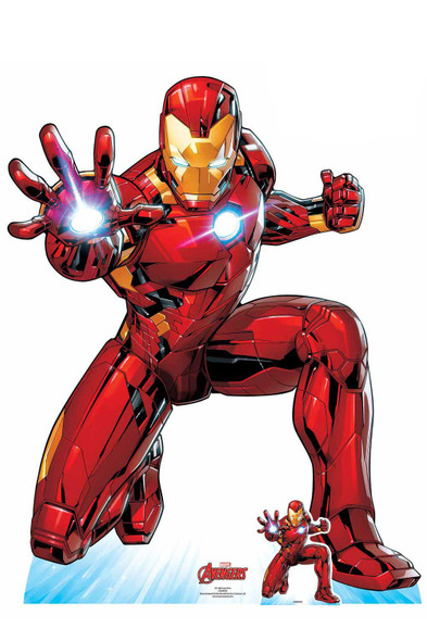 Iron Man Ballistic Salvo Kneeling Pose Official Marvel Cardboard Cutout