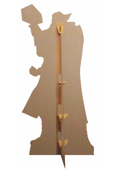 Rear of Thor Mjolnir's Might Hammer Pose Official Marvel Cardboard Cutout