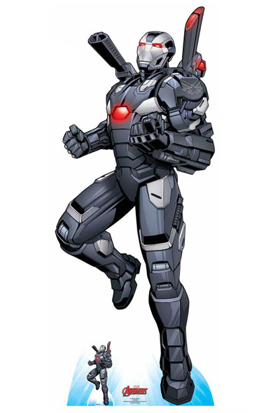 War Machine Ariel Assault Official Marvel Cardboard Cutout