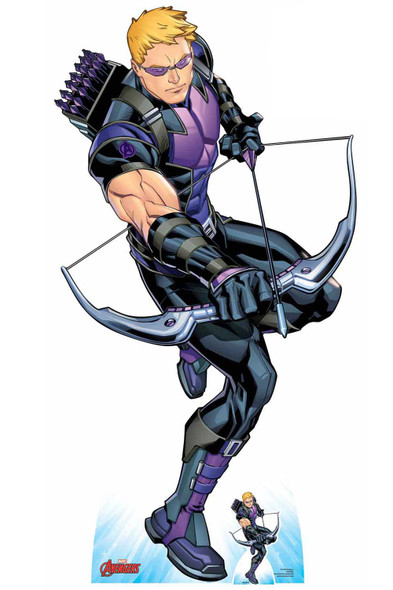 Hawkeye holding Bow and Arrow Official Marvel Cardboard Cutout