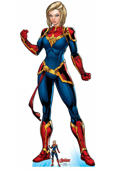Captain Marvel Official Lifesize Marvel Avengers Cardboard Cutout