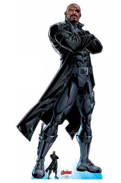 Nick Fury Official Lifesize Marvel Avengers Cardboard Cutout