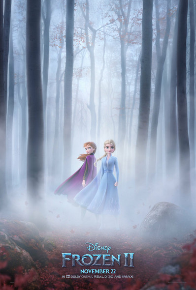 Frozen 2 Original Movie Poster Double Sided Advance Forest Style