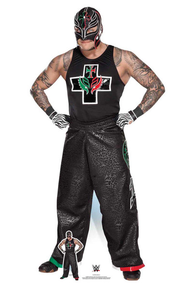 Rey Mysterio Hands on Hips WWE Lifesize Cardboard Cutout