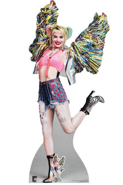 Harley Quinn Happy Butterfly Birds of Prey Lifesize Cardboard Cutout