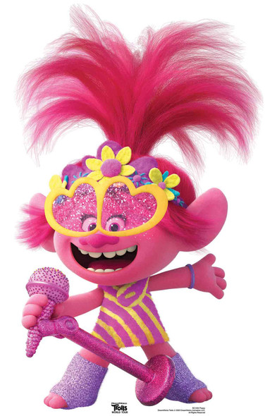 Princess Poppy Heart Glasses Official Trolls World Tour Mini Cardboard Cutout