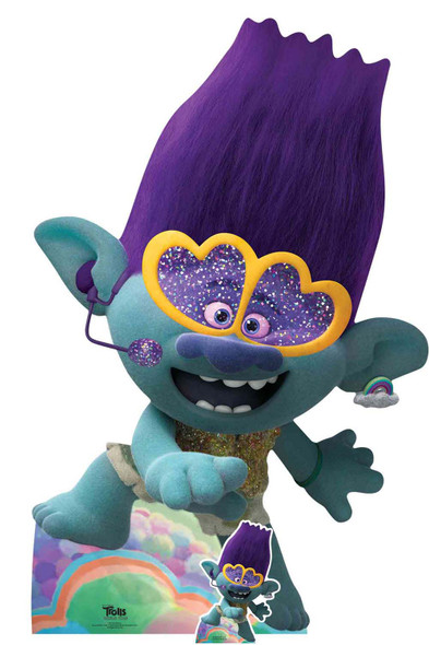 Branch Singing Official Trolls World Tour Lifesize Cardboard Cutout