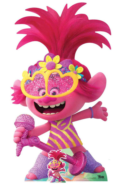 Princess Poppy Singing Official Trolls World Tour Lifesize Cardboard Cutout