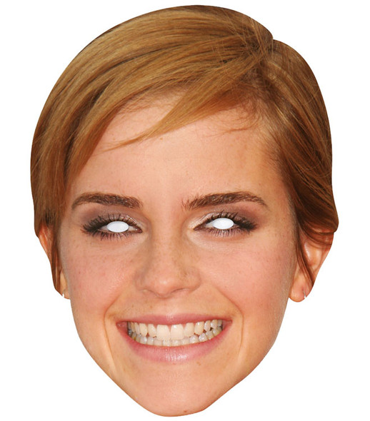 Emma Watson Celebrity 2D Single Card Party Face Mask