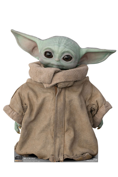 The Child (Baby Yoda) Alternate Pose Official Mandalorian Cardboard Cutout