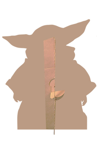 Rear of The Child (Baby Yoda) Alternate Pose Official Mandalorian Cardboard Cutout
