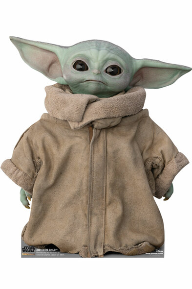 The Child (Baby Yoda) Head Tilting Right Official Mandalorian Cardboard Cutout