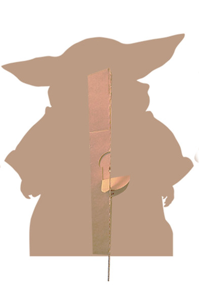 Rear of The Child (Baby Yoda) Head Tilting Right Official Mandalorian Cardboard Cutout