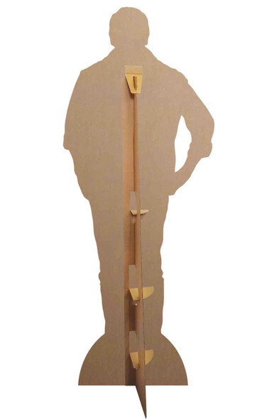 Rear of Patrick Bruel French Singer Casual Style Lifesize Cardboard Cutout