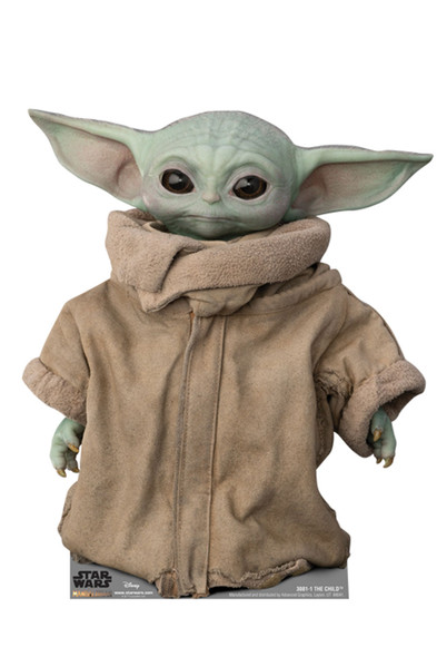 The Child (Baby Yoda) Official Mandalorian Cardboard Cutout