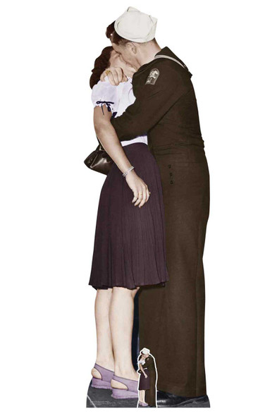 Victory Day Couple Lifesize Colour Cardboard Cutout / Standee