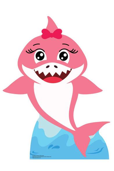 Baby Pink Shark Cardboard Cutout / Standee