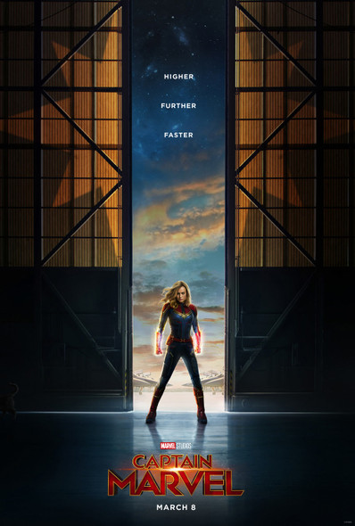 Captain Marvel Original Movie Poster Double Sided Advance Style – UV Coated