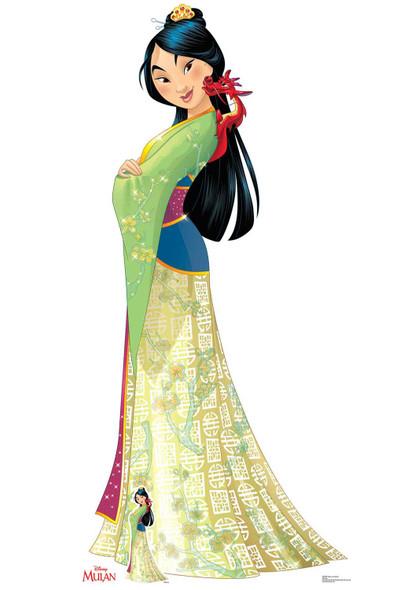 Mulan and Mushu from Mulan Official Lifesize Cardboard Cutout