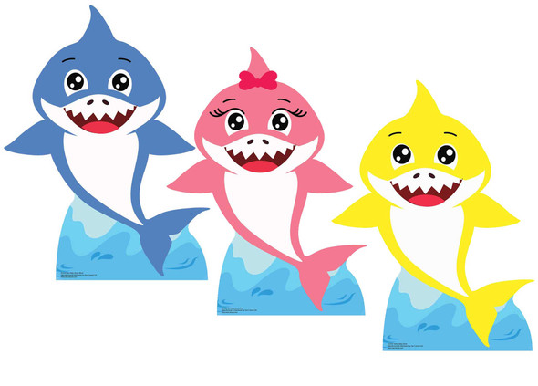 Baby Sharks Set of 3 Cardboard Cutouts / Standees
