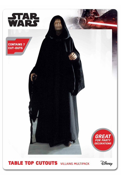 Star Wars Villains Official Table Top Cardboard Cutouts Party Pack of 7