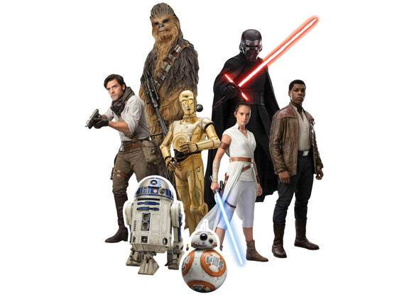Star Wars: Rise of Skywalker Official Table Top Cardboard Cutouts Pack of 8