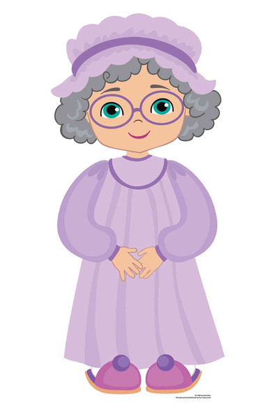 Grandma from Little Red Riding Hood Fairy Tales Cardboard Cutout