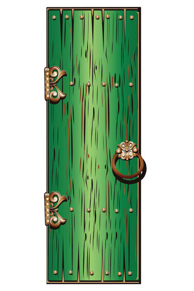 Magical Fantasy Green Single Door Cardboard Decor