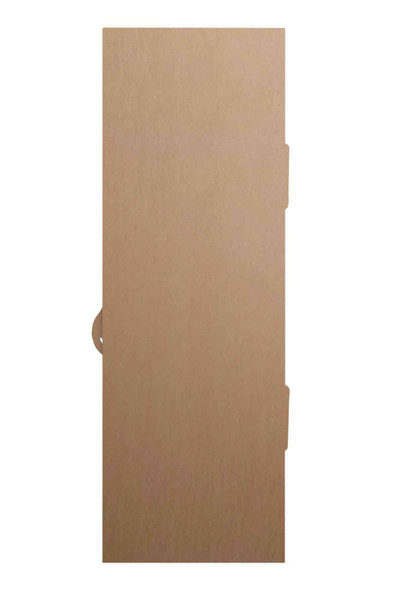 Rear of Magical Fantasy Green Single Door Cardboard Decor