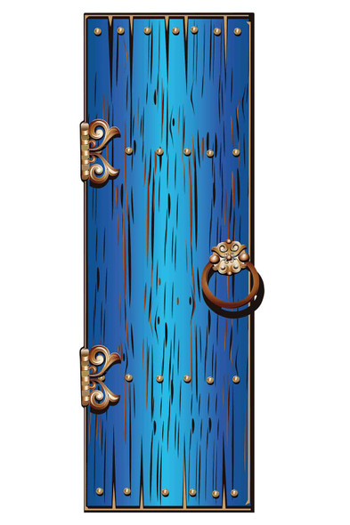 Magical Fantasy Blue Single Door Cardboard Decor