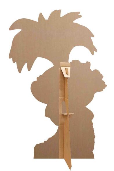 Rear of Princess Poppy with Ukulele Official Trolls World Tour Mini Cardboard Cutout